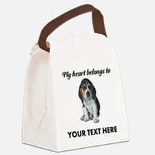 Personalized Beagle Custom Canvas Lunch Bag