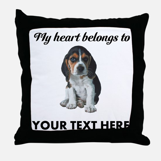 Personalized Beagle Custom Throw Pillow