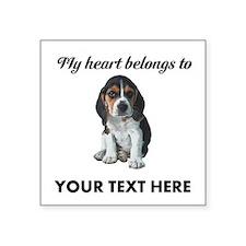 Personalized Beagle Custom Square Sticker 3