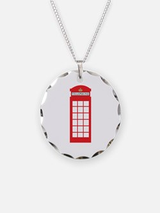 Telephone Box Necklace