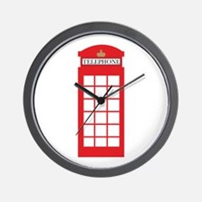 Telephone Box Wall Clock