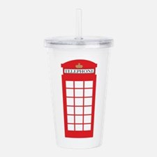 Telephone Box Acrylic Double-wall Tumbler
