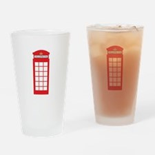 Telephone Box Drinking Glass