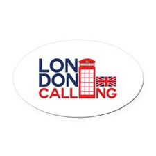 London Calling Oval Car Magnet