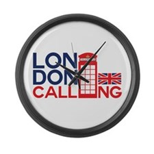 London Calling Large Wall Clock