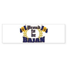 Proud to be Bajan Bumper Bumper Sticker