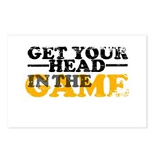 Get Your Head In The Game Postcards (Package of 8)
