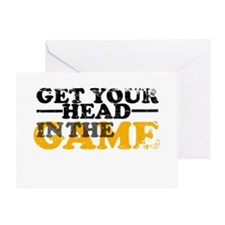 Get Your Head In The Game Greeting Card