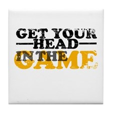 Get Your Head In The Game Tile Coaster