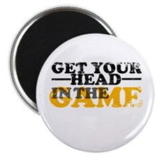 """Get Your Head In The Game 2.25"""" Magnet (10 pack)"""