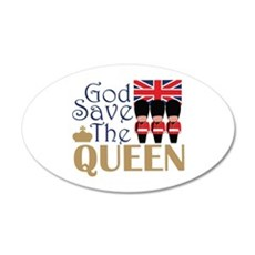 God Save The Queen Wall Decal