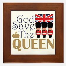God Save The Queen Framed Tile