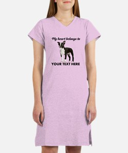 Personalized Boston Terrier Women's Nightshirt