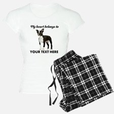 Personalized Boston Terrier Pajamas