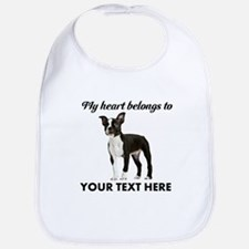 Personalized Boston Terrier Bib