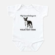 Personalized Boston Terrier Onesie