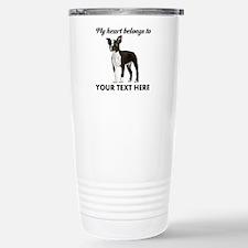 Personalized Boston Ter Stainless Steel Travel Mug