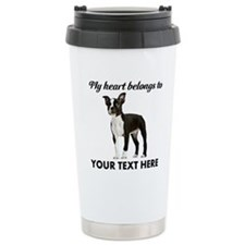 Personalized Boston Ter Travel Mug