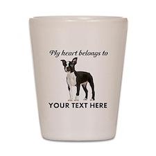 Personalized Boston Terrier Shot Glass