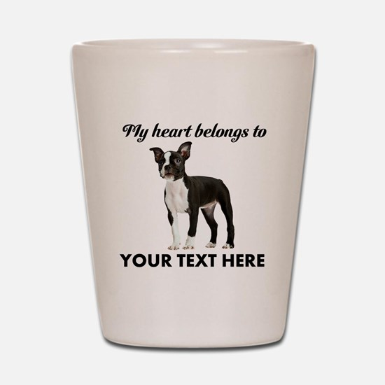 Personalized Boston Terrier Shot Glass