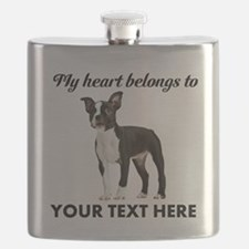 Personalized Boston Terrier Flask