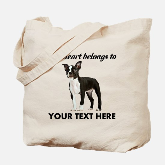 Personalized Boston Terrier Tote Bag