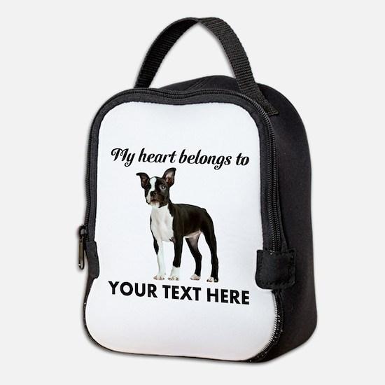 Personalized Boston Terrier Neoprene Lunch Bag