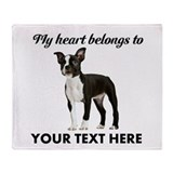 Boston terrier Blankets