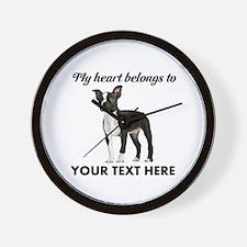 Personalized Boston Terrier Wall Clock