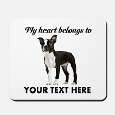 Personalized Boston Terrier Mousepad