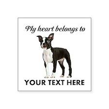 Personalized Boston Terrier Square Sticker 3
