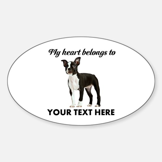 Personalized Boston Terrier Sticker (Oval)