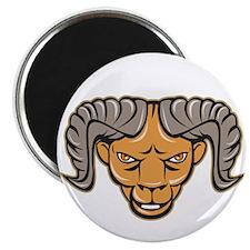 Ram Head Isolated Cartoon Magnets