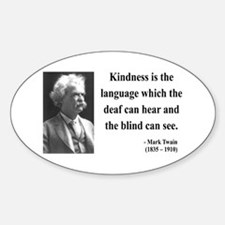 Mark Twain 31 Oval Decal