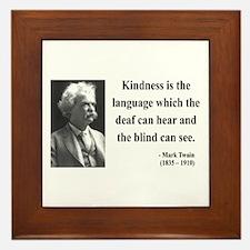 Mark Twain 31 Framed Tile
