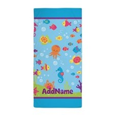 Under the Sea Creatures Personalized Beach Towel