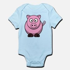 Chubby pink pig Body Suit