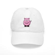 Chubby pink pig Baseball Cap