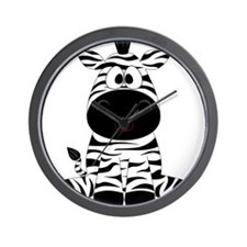 Cute Little Zebra Wall Clock