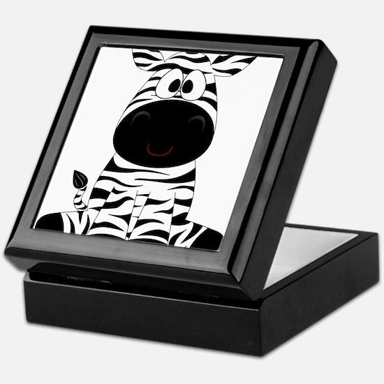 Cute Little Zebra Keepsake Box