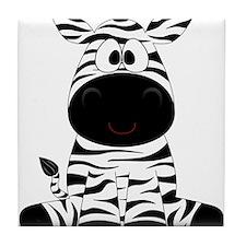 Cute Little Zebra Tile Coaster