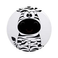 Cute Little Zebra Ornament (Round)