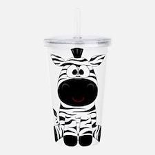 Cute Little Zebra Acrylic Double-wall Tumbler