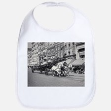 Vintage Horse Drawn Fire Truck (black and whit Bib