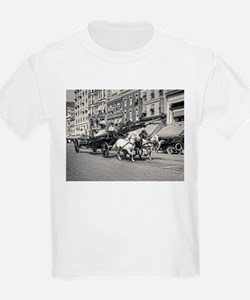 Vintage Horse Drawn Fire Truck (black and T-Shirt