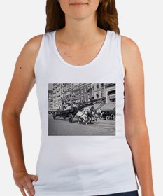 Vintage Horse Drawn Fire Truck (black and Tank Top
