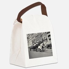 Vintage Horse Drawn Fire Truck (b Canvas Lunch Bag