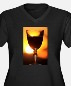 Red Wine and a Sunset Plus Size T-Shirt