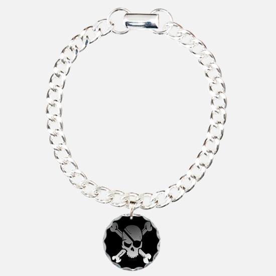 Black, gray and white sk Bracelet