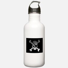 Black, gray and white Water Bottle